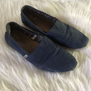 Navy Blue Classic Toms